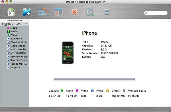 run iPhone to mac transfer software
