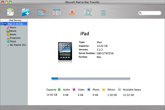 run iPad to Mac Transfer