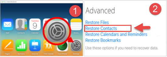 recover contacts from icloud advanced mode